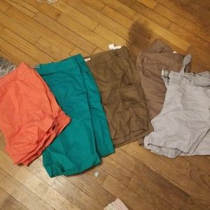 Lot of size 14 shorts.
